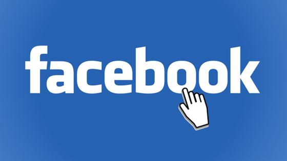 facebook logo on blue background