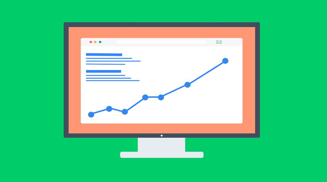 SEO graphic showing metrics