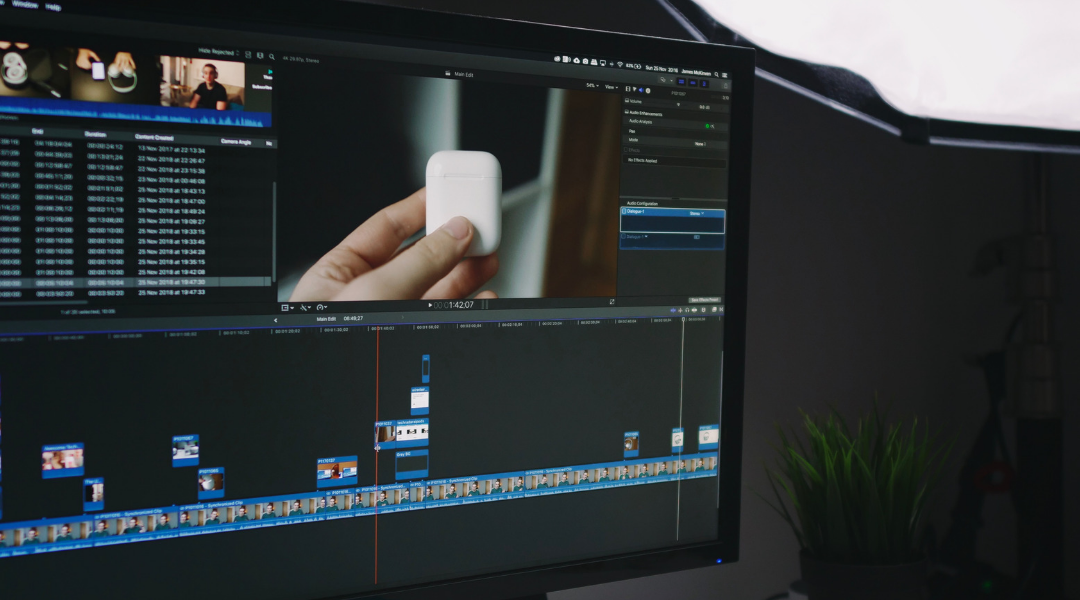 Final Cut Pro on an iMac