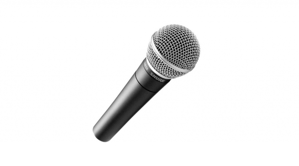 Image of the Shure SM58 microphone