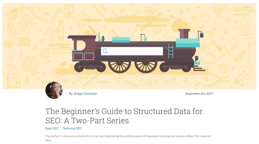 screenshot of moz structured data guide for beginners