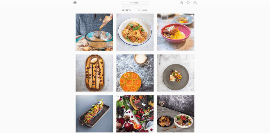 Screenshot of Sorted Food's Instagram feed showing various meals they have created