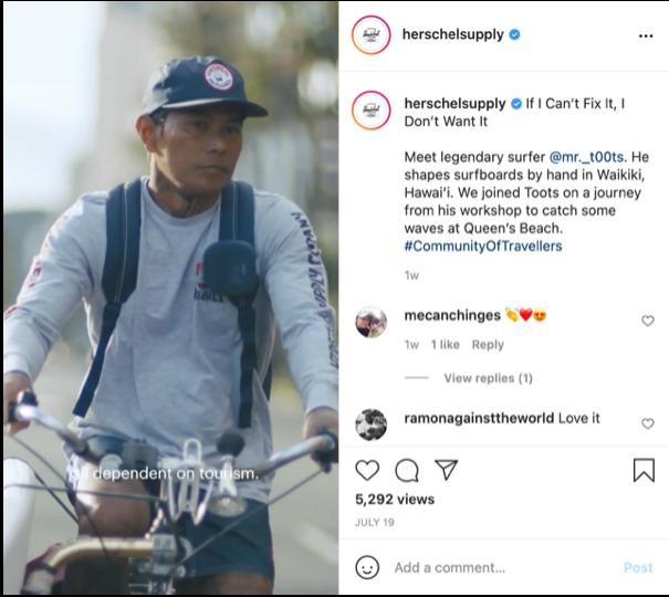 herschel supply instagram post